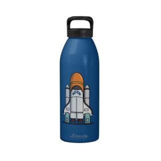 Cartoon Space Shuttle Water Bottle