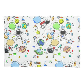 Cartoon Space Theme Pillow Case