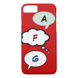 cartoon speech balloons with initials iPhone 7 case