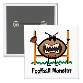 Cartoon Sports Clip Art Angry Mad Football Monster Button