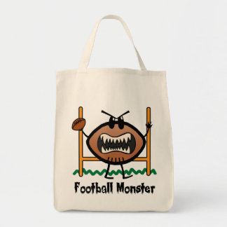 Cartoon Sports Clip Art Angry Mad Football Monster Tote Bag