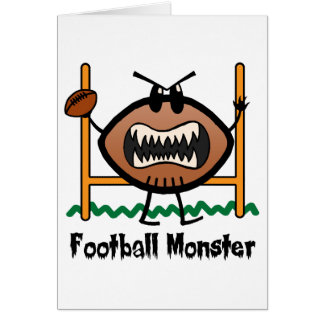 Cartoon Sports Clip Art Angry Mad Football Monster Card