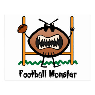 Cartoon Sports Clip Art Angry Mad Football Monster Postcard