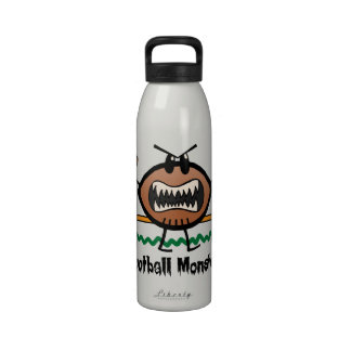 Cartoon Sports Clip Art Angry Mad Football Monster Drinking Bottle