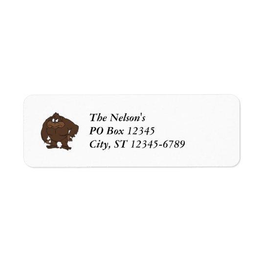 Cartoon Squatch Return Address Label