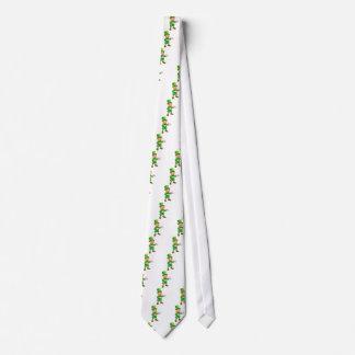 Cartoon St Patricks Day Leprechaun Pointing Tie