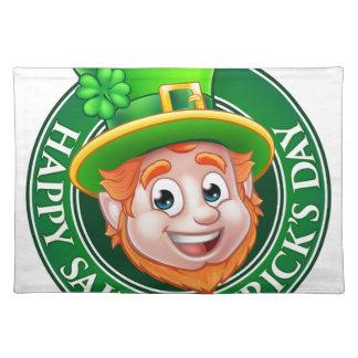 Cartoon St Patricks Day Leprechaun Sign Placemat