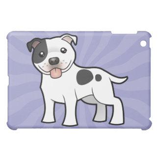 Cartoon Staffordshire Bull Terrier iPad Mini Cover