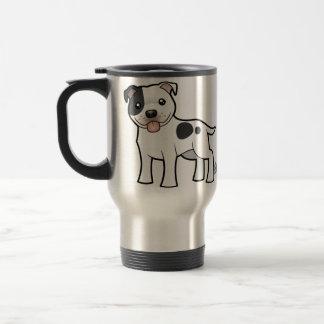 Cartoon Staffordshire Bull Terrier Coffee Mugs