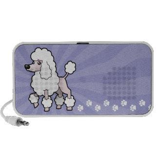 Cartoon Standard/Miniature/Toy Poodle (show cut) iPhone Speakers