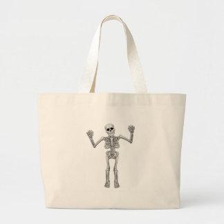 Cartoon Standing Skeleton Large Tote Bag