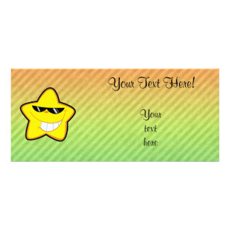 Cartoon Star design Rack Card