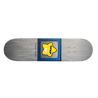 Cartoon Star; Metal-look Skateboards