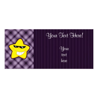 Cartoon Star Purple Rack Card Template