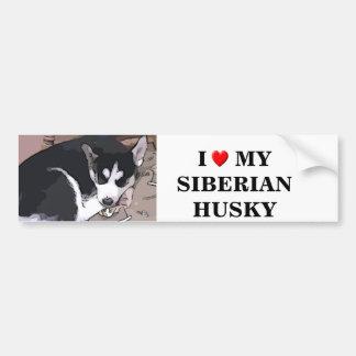 Cartoon sticker of a husky pup