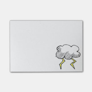 Cartoon Storm Cloud Design Post-it® Notes