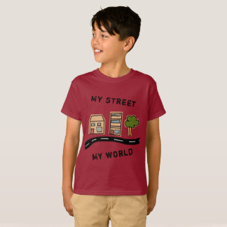 "Cartoon Street ""My street my world"" T-Shirt"