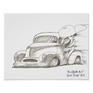Cartoon Street Rod Posters