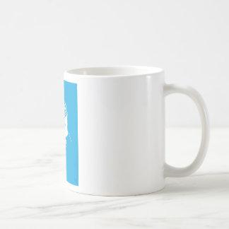 cartoon style blue bear coffee mug