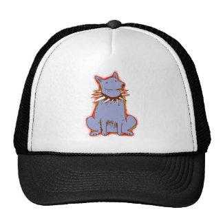 cartoon style dog light blue pop art cap