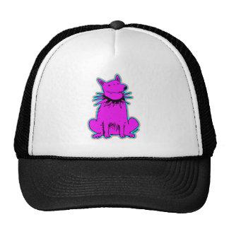 cartoon style dog pure purple cap
