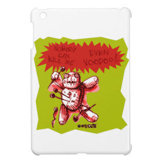 cartoon style funny voodoo baby green background iPad mini cases