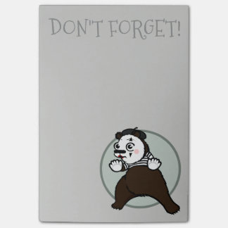CARTOON STYLE GRIZZLY BEAR MIME POST-IT NOTEPAD