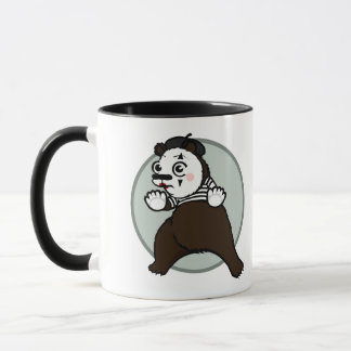 CARTOON STYLE GRIZZLY BEAR MIME RINGER MUG