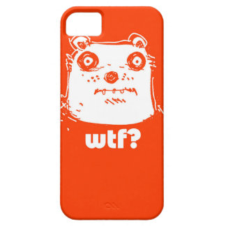 cartoon style illustration orange bear barely there iPhone 5 case