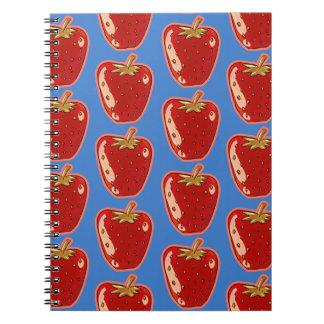 cartoon style strawberry illustration notebook