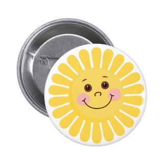 Cartoon Sun 6 Cm Round Badge