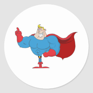 Cartoon Super Hero Stickers