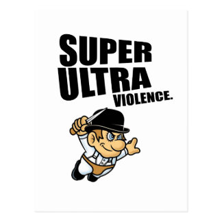 cartoon super Ultra violence Postcard