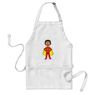 Cartoon Superhero Boy Red and Yellow Suit Standard Apron
