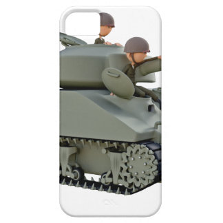 Cartoon Tank and Soldiers at Ease Case For The iPhone 5