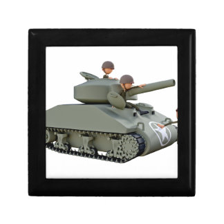 Cartoon Tank and Soldiers at Ease Gift Box