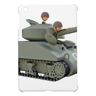 Cartoon Tank and Soldiers at Ease iPad Mini Case