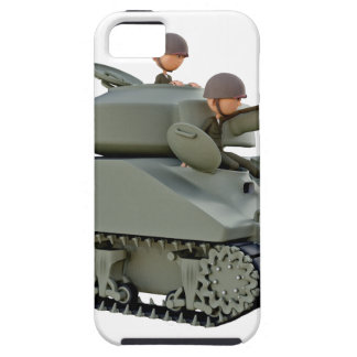 Cartoon Tank and Soldiers at Ease iPhone 5 Cases