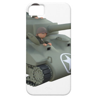 Cartoon Tank and Soldiers Going Forward iPhone 5 Case