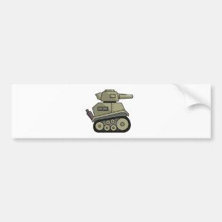 Cartoon Tank Bumper Sticker