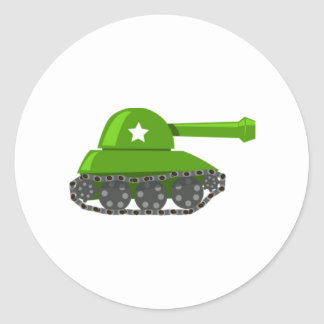 Cartoon Tank Classic Round Sticker