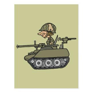 Cartoon Tank Postcard