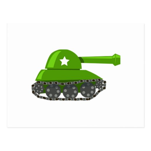 Cartoon Tank Post Card