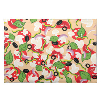 Cartoon Tasty Pizza2 Placemat