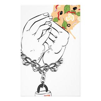 Cartoon Tasty Pizza and Hands Stationery
