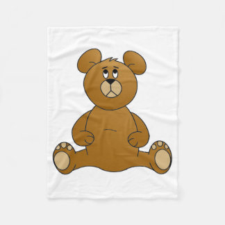 Cartoon Teddy Bear Fleece Blanket