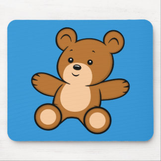 Cartoon Teddy Bear Mouse Pad