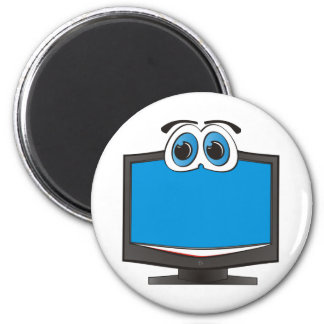 Cartoon Television Blue Magnet