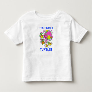 Cartoon Ten Tickled Turtles Toddler T-Shirt