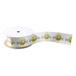 Cartoon Tennis Ball Man Satin Ribbon